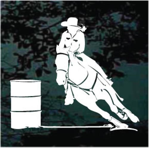 Barrel Racing Rodeo Horse Rider Racer Race Vinyl Decal Sticker C