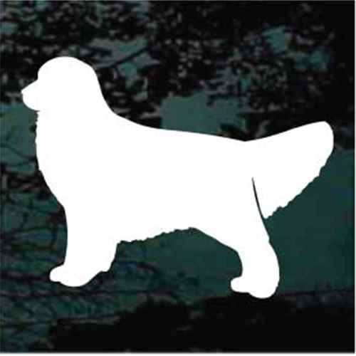 Golden Retriever Standing Silhouette Window Decal