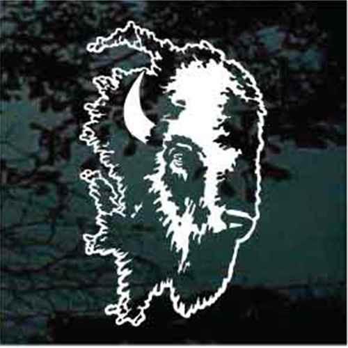 Buffalo Head Window Decal