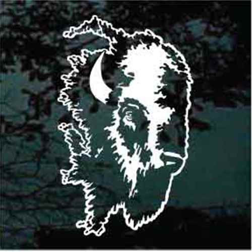 Buffalo Head Window Decals