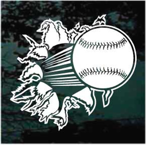 Breaking Glass Baseball Decals