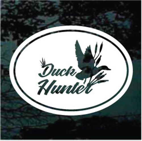 Duck With Reeds Duck Hunter Oval