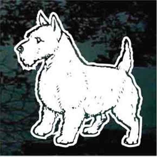 West Highland Terrier Standing Window Decals