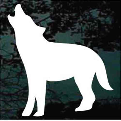 Coyote Howling Silhouette Window Decals