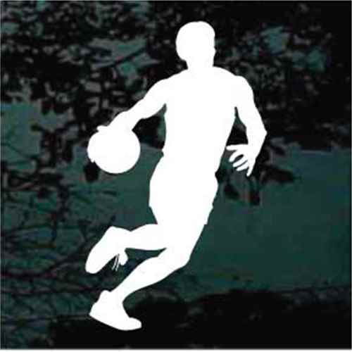 Man Dribbling Basketball Decals