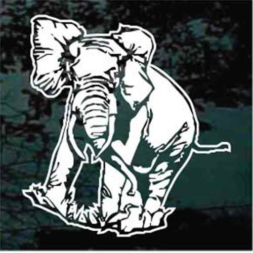 Detailed Elephant Window Decals