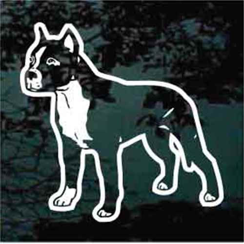 Amstaff Standing Decal