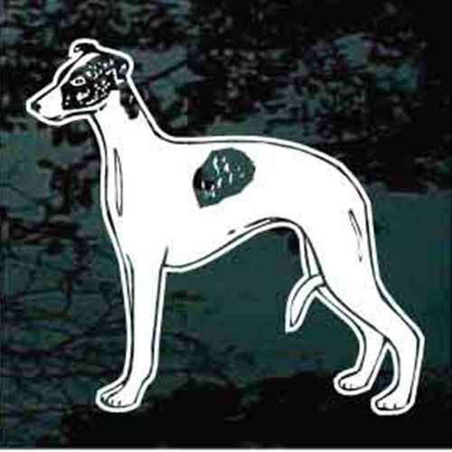 Whippet Standing Window Decal