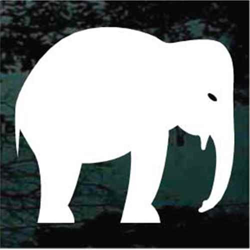 Elephant Standing Silhouette Window Decals