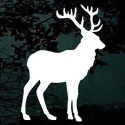 Elk Silhouette 02 Window Decal