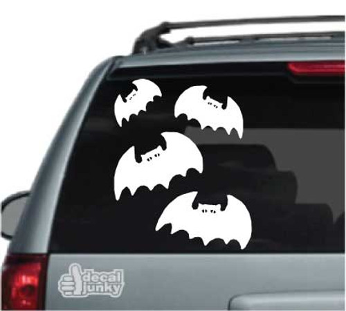 Cartoon Halloween Bats Car Decal