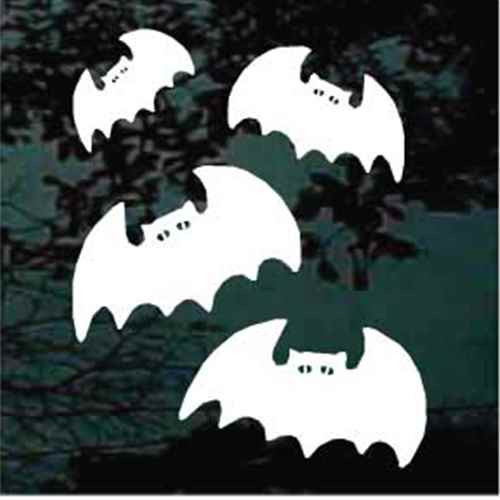 Cartoon Halloween Bats Window Decals
