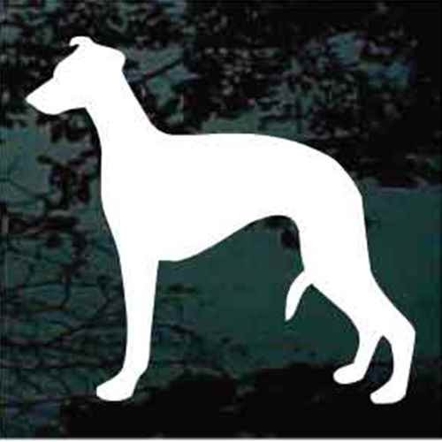 Solid Whippet Window Decal