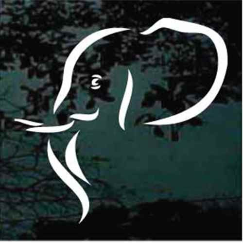 Elephant Head Shape Window Decals