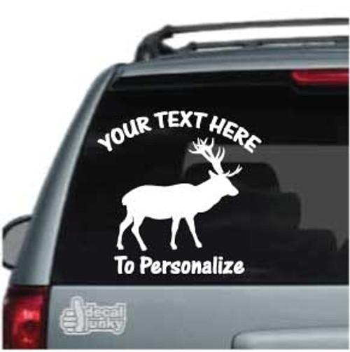 Elk Hunting Silhouette Car Decals