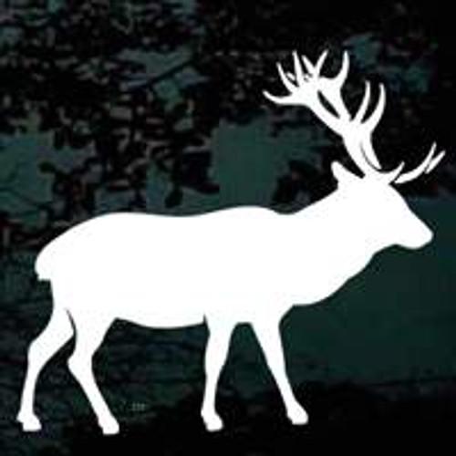 Elk Silhouette 04 Window Decal