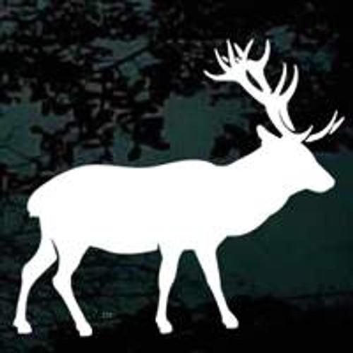 Elk Hunting Silhouette Window Decals