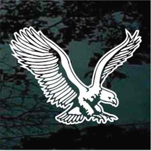 Eagle In Flight Window Decals
