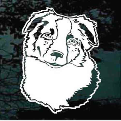 Australian Shepherd Head Window Decal