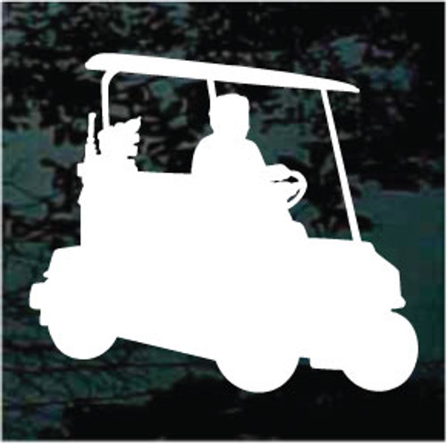 Golf Cart Silhouette Decals