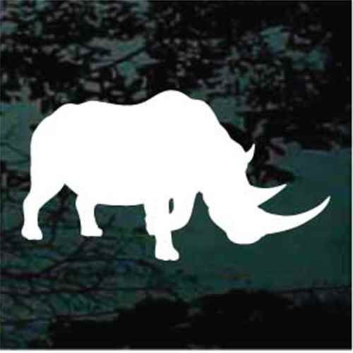 Rhinoceros Silhouette Decals