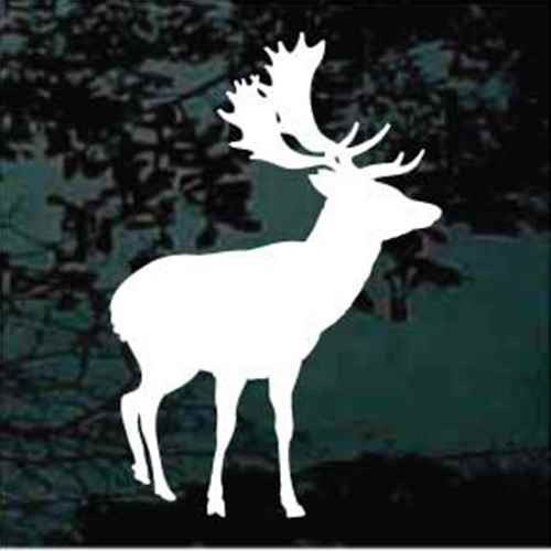 Young Moose Silhouette Window Decals