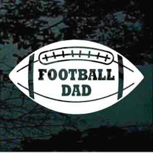 Football Dad Decals