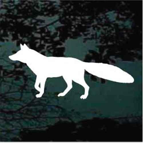 Alert Fox Silhouette Window Decals