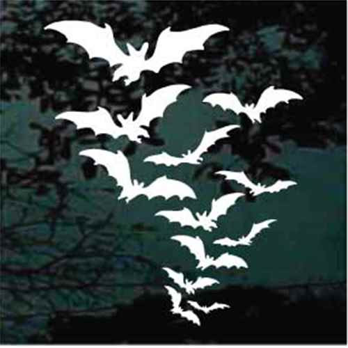 Bat Colony Window Decals