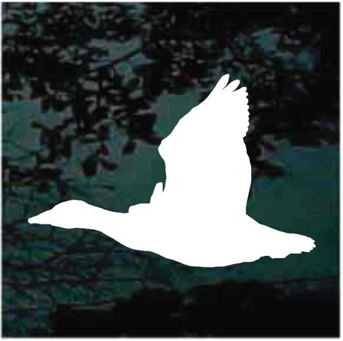 Flying Goose Silhouette Window Decals