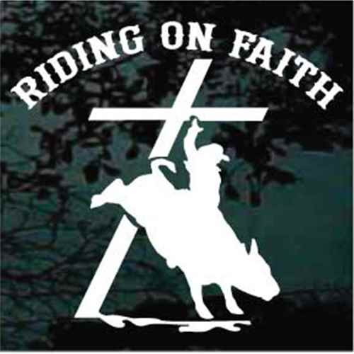 Bull Rider Riding on Faith