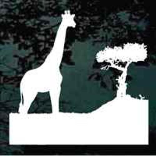 Giraffe & Tree Scene Window Decals