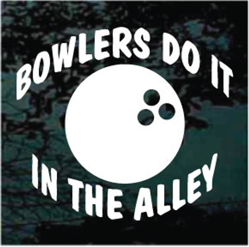 Bowlers Do It In The Alley