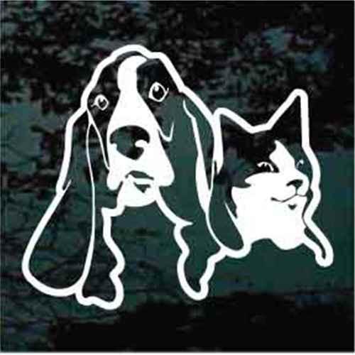 Cat & Basset Hound Decals