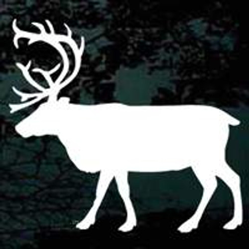 Large Bull Elk Window Decals