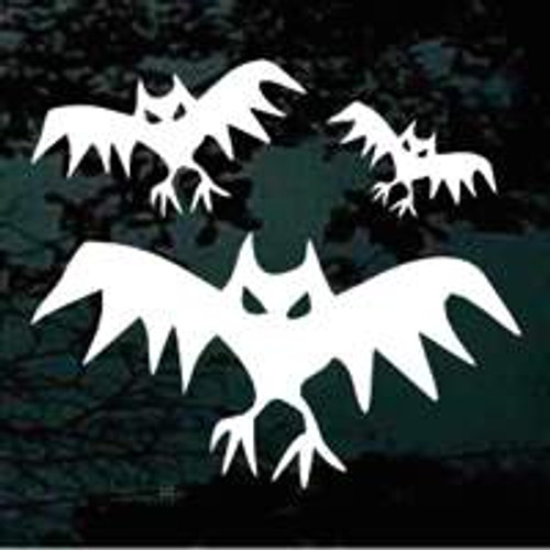 Spooky Bats Window Decal