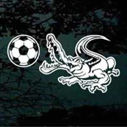 Gators Soccer Window Decals