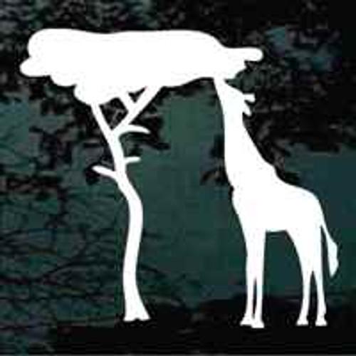 Grazing Giraffe Window Decals