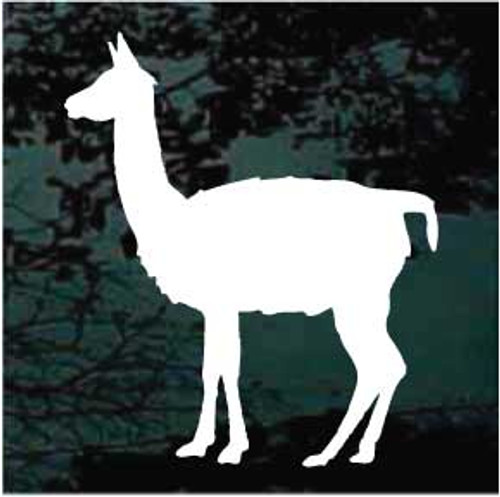 Llama Standing Window Decals