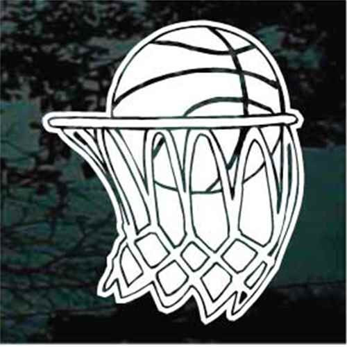 Basketball Decals Car Window Stickers Personalized
