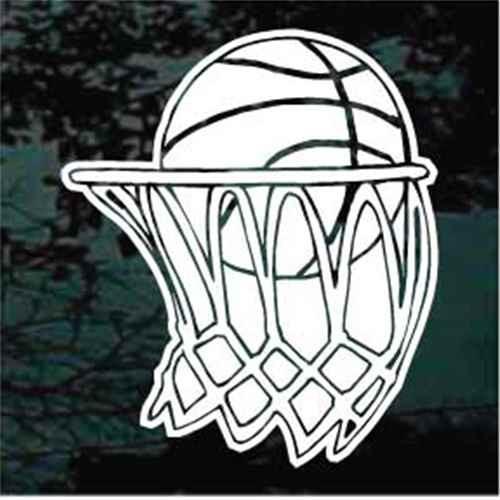 Basketball Inside Goal  Decals