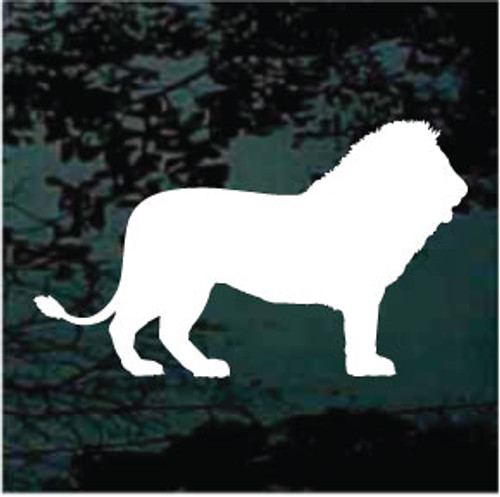 Lion Profile Silhouette Window Decals