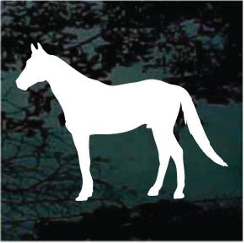 Horse Profile Silhouette Decals