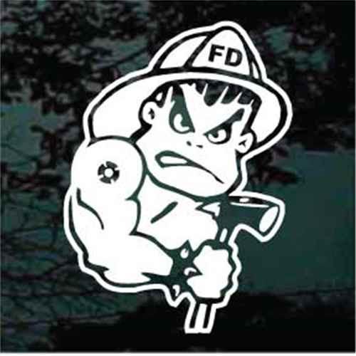 Bad Boy Firefighter Window Decals