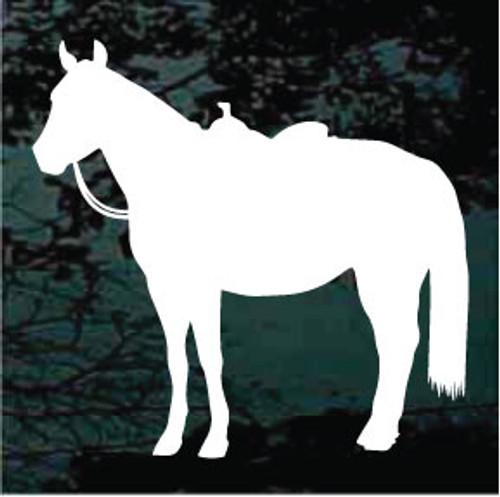 Saddled Horse Silhouette