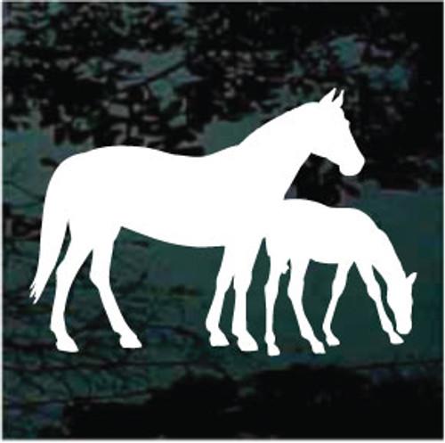 Horse & Colt Silhouette Window Decals