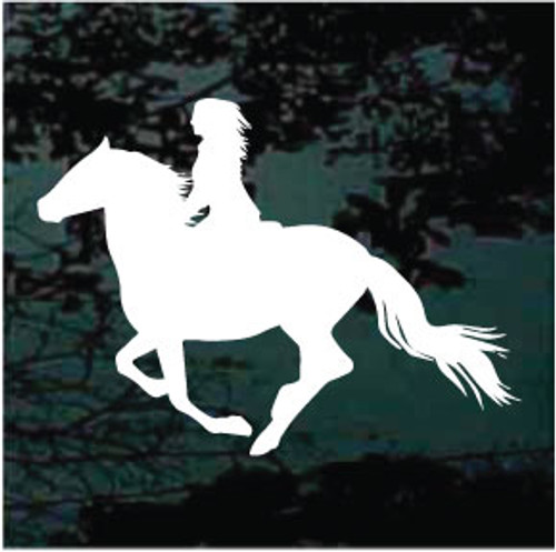 Girl Horseback Riding Silhouette Decals
