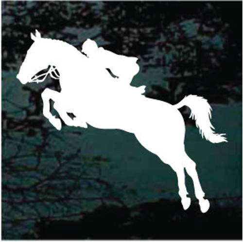 Jumping Horse With Rider Decals