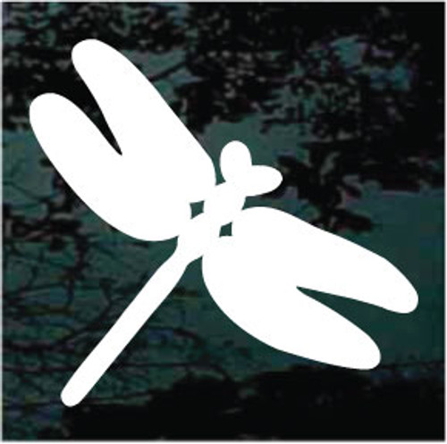 Simple Dragonfly Silhouette Window Decals