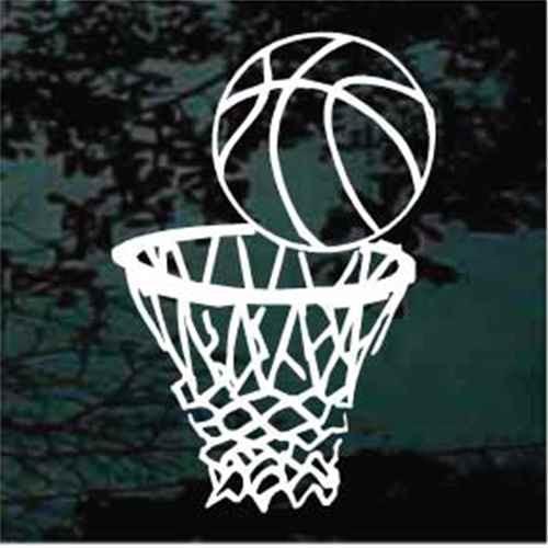 Basketball & Goal Window Decals